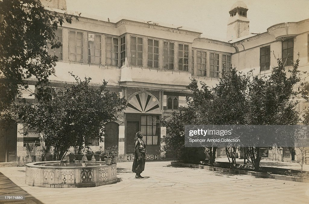 The courtyard of a jewish house in damascus syria circa for The damascus house