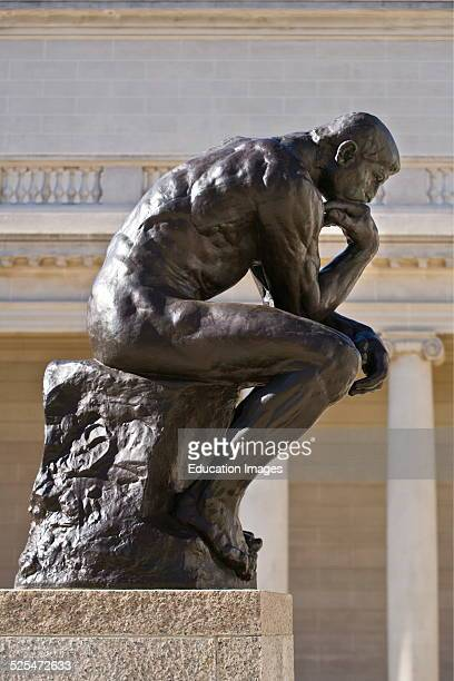 The Courtyard Of The Legion Of Honor With A Auguste Rodin Sculpture Titled The Thinker San Francisco California