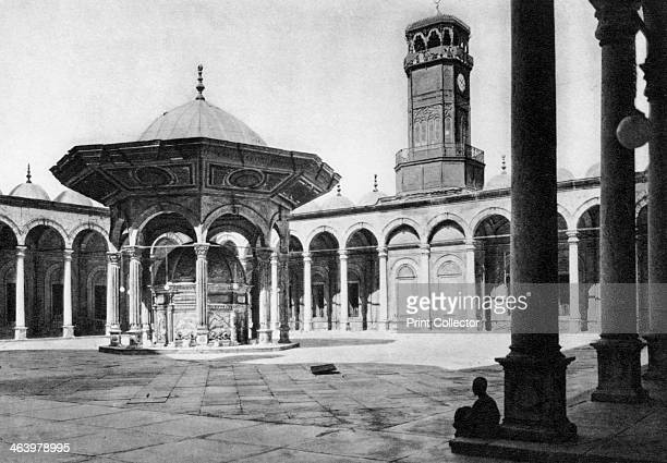 The courtyard of the Mosque of Muhammad Ali at the Saladin Citadel Cairo Egypt c1920s Plate taken From In the Land of the Pharaohs published by...