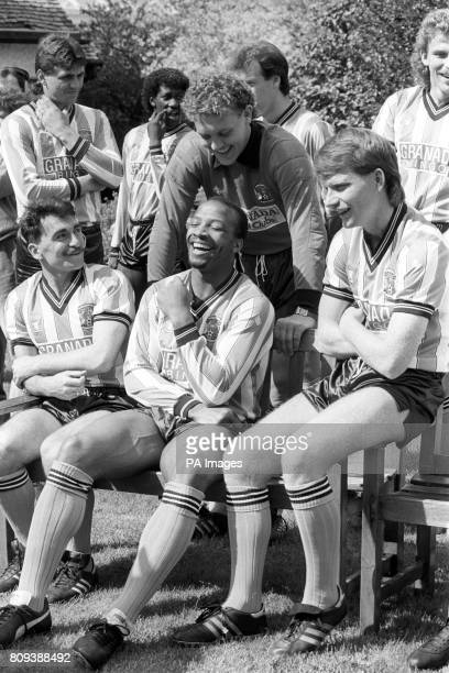 The Coventry City squad relaxing at a Hotel near Bournemouth ahead of their FA Cup Final match against Tottenham Hotspur Micky Gynn Cyrille Regis...
