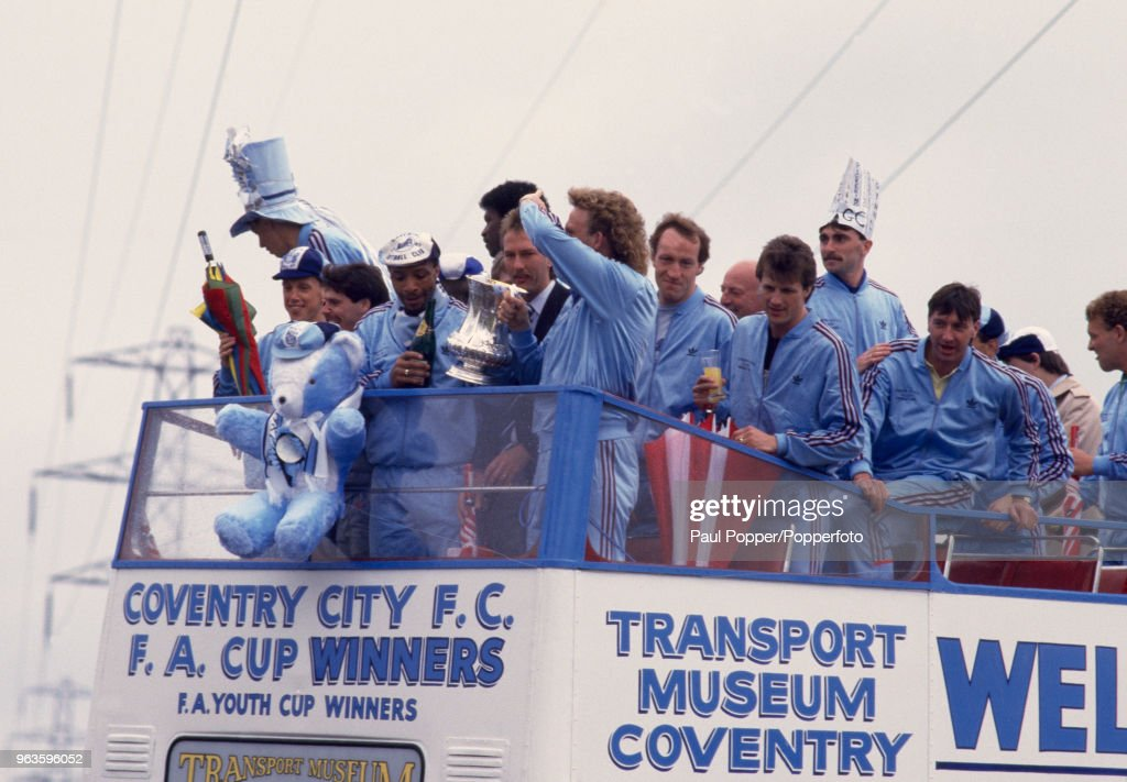 Coventry City FA Cup Parade 1986/87 : News Photo