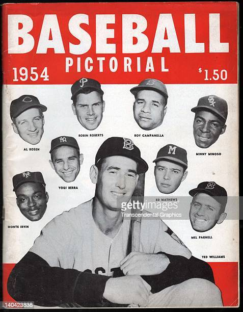 The cover for Baseball Pictorial 1954 features Ted Williams and many other stars of the day published by JMK Publications in New York CIty in 1954