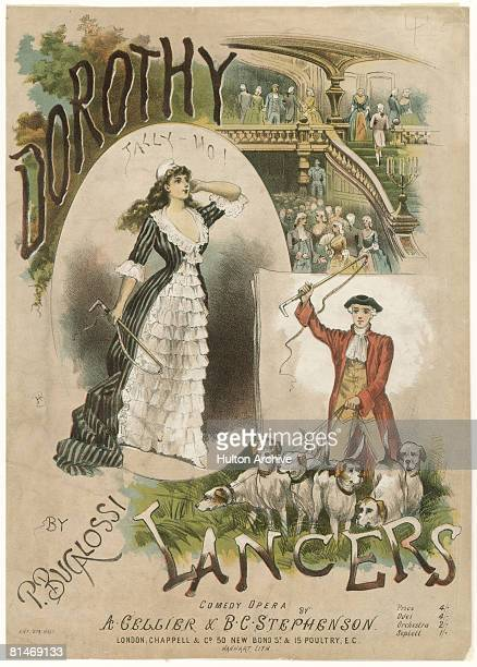 The cover of a dance arrangement of Alfred Cellier's 'Dorothy' by Procida Bucalossi published by Chappell Co of London circa 1890