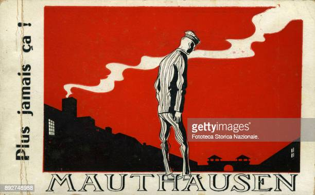 The cover of a French documentary booklet containing images and drawings by a prisoner in the concentration camp of Mauthausen The illustration...