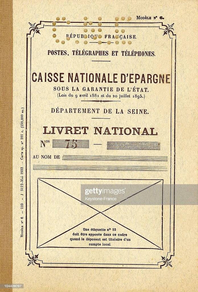 The Cover Of A Livret A From The Caisse Nationale D Epargne News