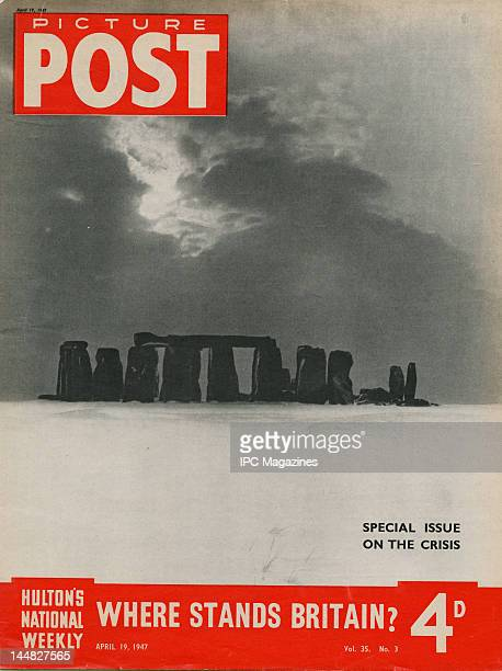 The cover of a Picture Post magazine 'Special Issue On The Crisis' for the week ending 19th April 1947 The issue is devoted to the fuel power and...