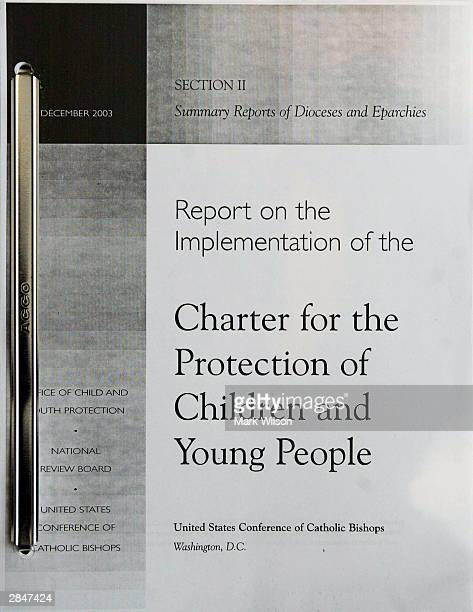 The cover of an audit report of 195 US dioceses performed to assess compliance with the Charter for the Protection of Children and Young People...