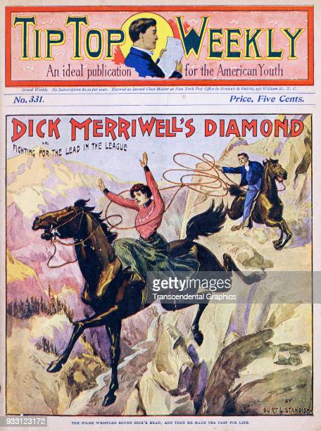 The cover of an issue of the Tip Top Weekly features a story entitled 'Dick Merriwell's Diamond or Fighting for the Lead in the League' It is...