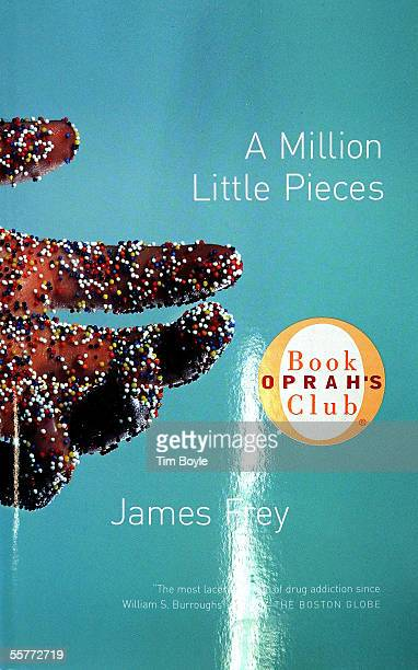 """The cover of an Oprah's Book Club book titled """"A Million Little Pieces"""" by James Frey is displayed at a Borders Book store September 26, 2005 in..."""
