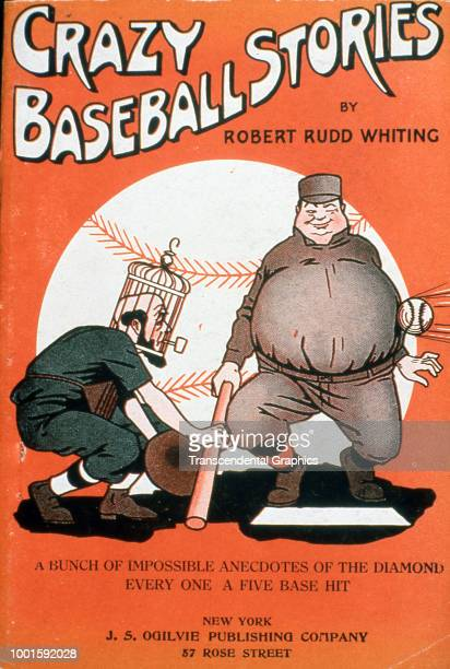 The cover of 'Crazy Baseball Stories' a book of anecdotes by Robert Rudd Whiting features a cartoon illustration of a pair of baseball players New...