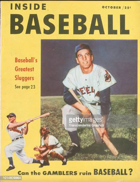 The cover of Inside Baseball magazine features American baseball player Al Rosen of the Cleveland Indians New York New York October 1948