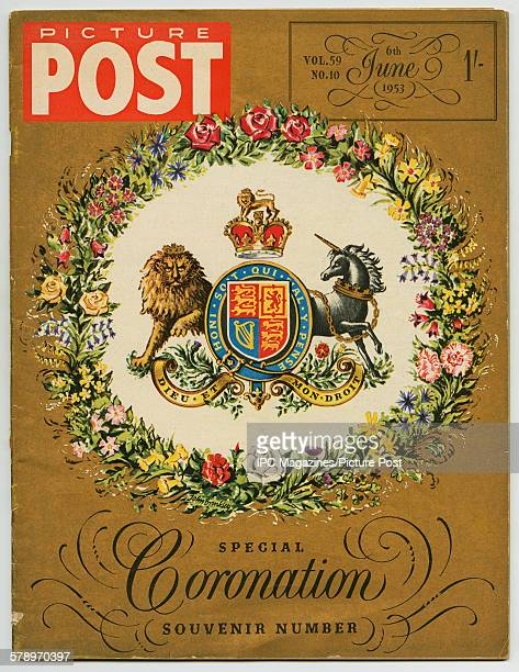 The cover of Picture Post magazine's 'Special Coronation Souvenir Number' published 6th June 1953 four days after the Coronation of Queen Elizabeth...