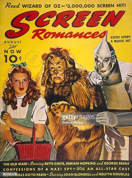 The cover of 'Screen Romances' magazine which contains a feature on the MGM film 'The Wizard of Oz' August 1939 The cover depicts actors Judy Garland...