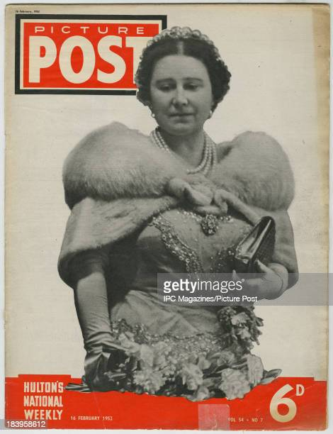 The cover of the 16th February 1952 issue of Picture Post magazine featuring a photo of Queen Elizabeth The Queen Mother This issue was published ten...