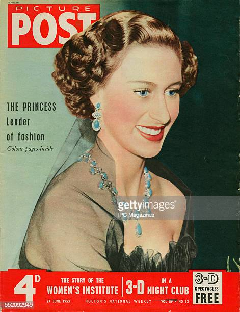 The cover of the 27th June 1953 issue of Picture Post magazine featuring a portrait of Princess Margaret Inside is a colour feature entitled 'Fashion...
