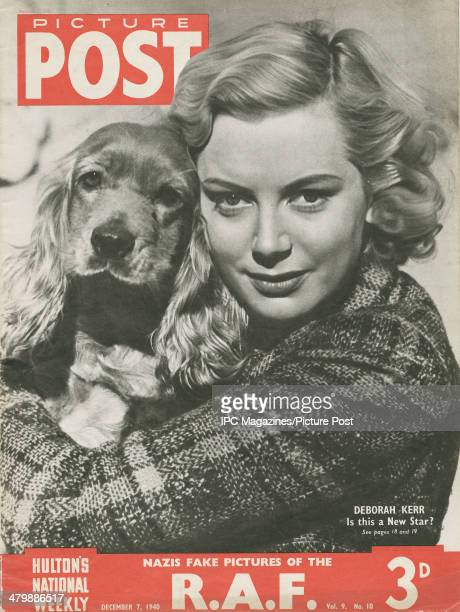 The cover of the 7th December 1940 edition of Picture Post magazine featuring a portrait of ninteeen yearold Scottish actress Deborah Kerr holding...