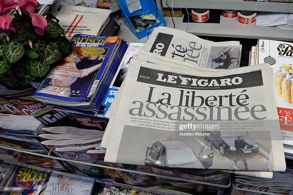 Global Reaction To The Terrorist Attack On French Newspaper Charlie Hebdo : News Photo
