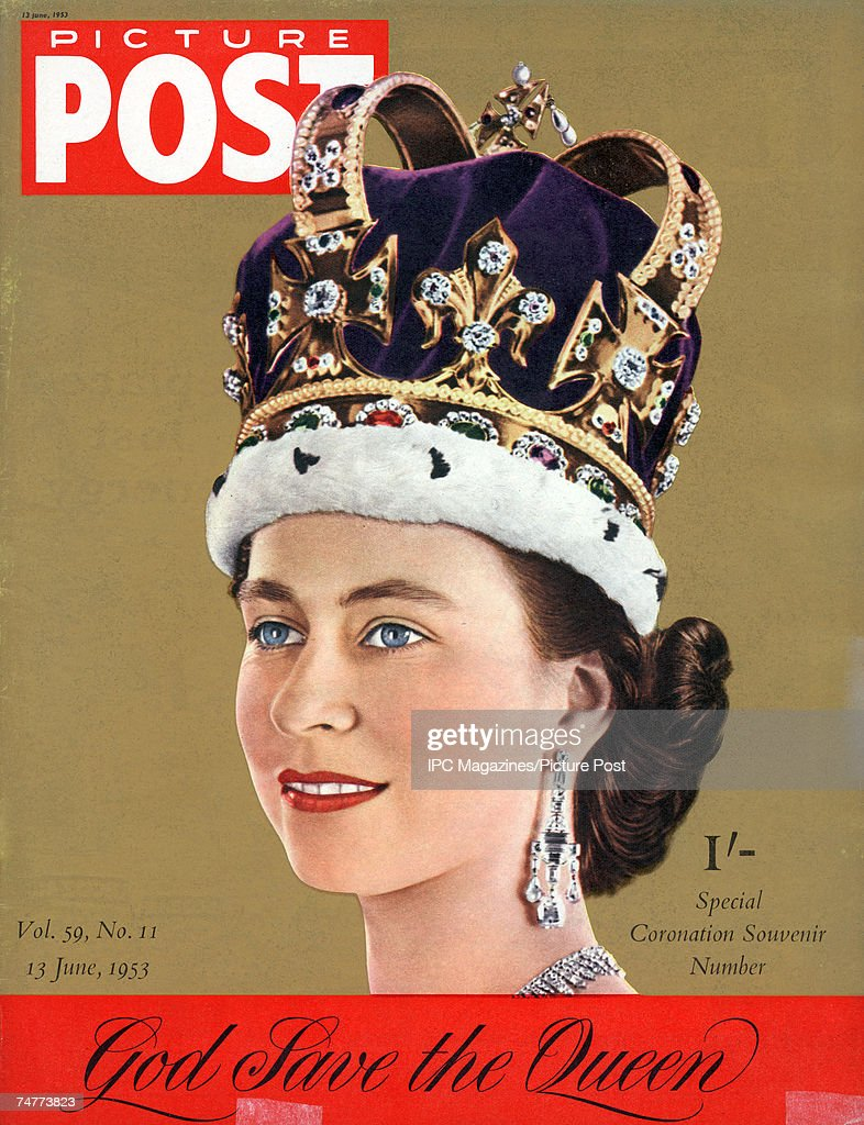 The cover of the second Picture Post Coronation Souvenir issue featuring the newly-crowned Queen Elizabeth II, 13th June 1953.