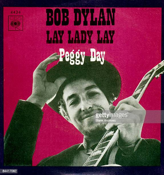 The cover of the Spanish 7inch single release of 'Lay Lady Lay'/Peggy Day' by American singersongwriter Bob Dylan 1969