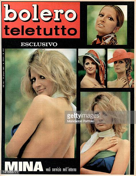 The cover of the weekly magazine Bolero showing some pictures of the Italian singer Mina 29th June 1969