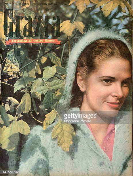 The cover of the women's magazine Grazia showing a young woman among the leaves of the trees. 1930s