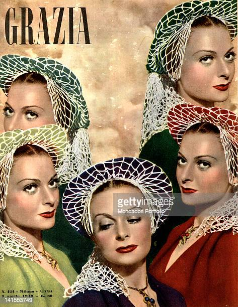 The cover of the women's magazine Grazia showing some women posing. 1940s