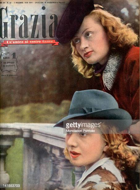 The cover of the women's magazine Grazia showing two young women 1930s