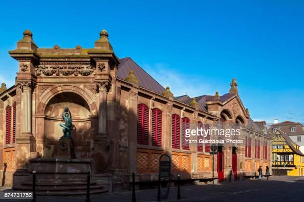 The covered market,  Colmar, Haut Rhin, Alsace, France