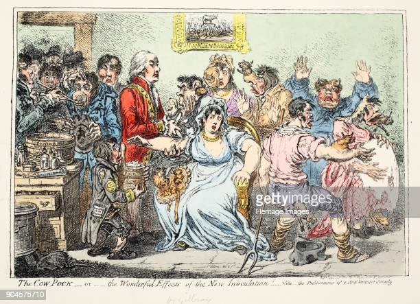 The Cow Pock or Wonderful Effects of the New Innoculation Vide the publications of the antivaccine society pub by H Humphreys 1809