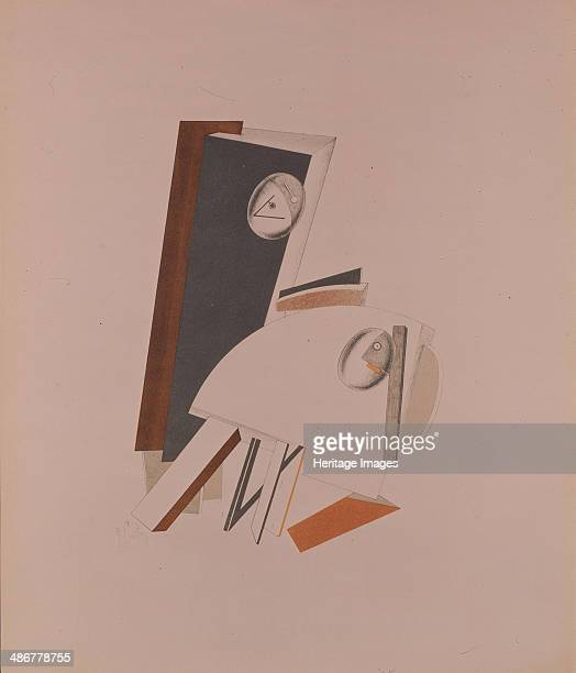The cowards Figurine for the opera Victory over the sun by A Kruchenych 19201921 Artist Lissitzky El