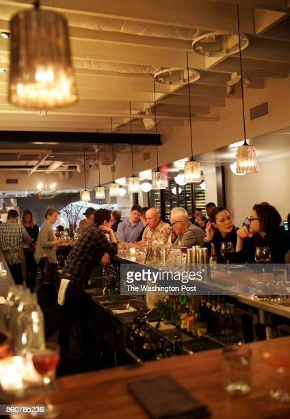 WASHINGTON DC The cozy bar area at The Dabney in the Shaw neighborhood photographed in Washington DC