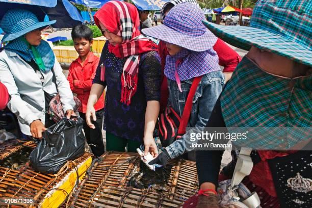 The Crab market , Kep, Cambodia