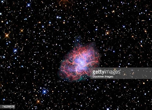 The Crab Nebula, also known as Messier 1 or NGC 1952, is a supernova remnant in the constellation of Taurus.