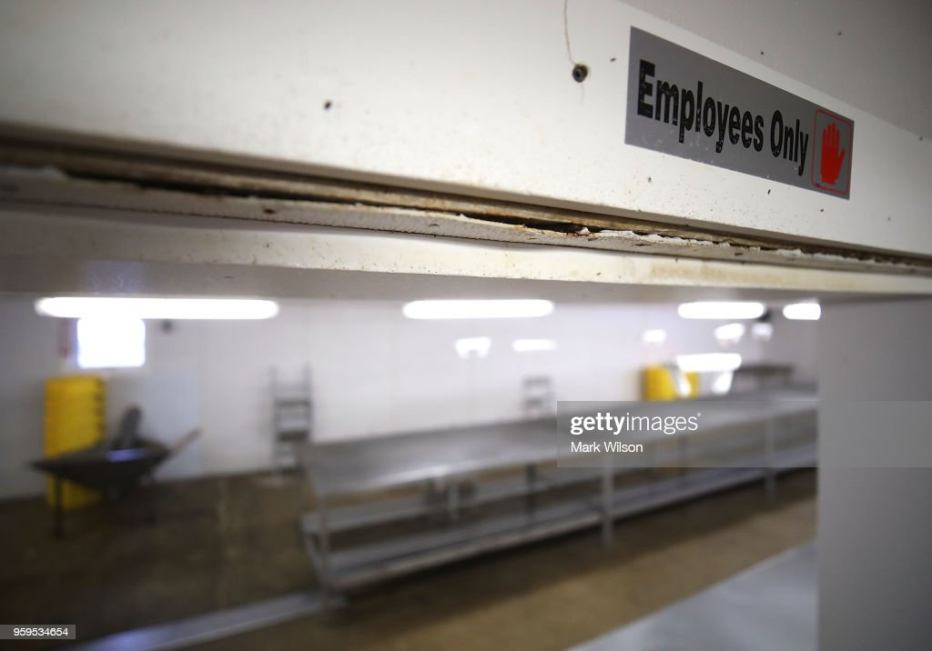 The crab picking room at the Russell Hall Seafood Co., sits empty on May 17, 2018 in Fishing Creek, Maryland. Due to a new lottery system this year, Russell Hall Seafood failed to get temporary H-2B visas for their mostly Mexican workforce that has been coming to the Maryland eastern shore for over two decades to pick the crab meat that is sold in restaurants and stores on the east coast.
