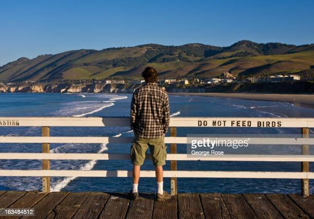 The craggy coastline and surf culture is popular among weekend visitors to the Pismo Beach area as viewed on March 1 in Pismo Beach, California. Some...
