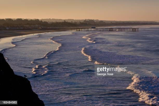 The craggy coastline and surf culture is popular among weekend visitors to the Pismo Beach area as viewed on March 1 in Shell Beach, California. Some...