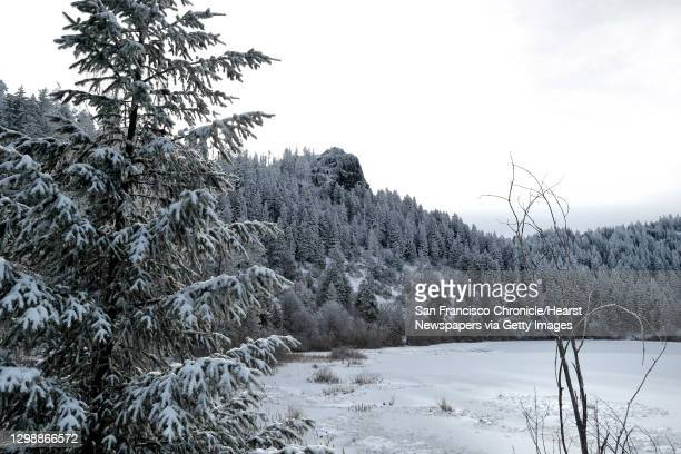 The craggy, snow-covered peak of Hobart Bluff in the Cascade-Siskiyou National Monument outside of Ashland, Ore., on Tuesday, February 20, 2018. The...