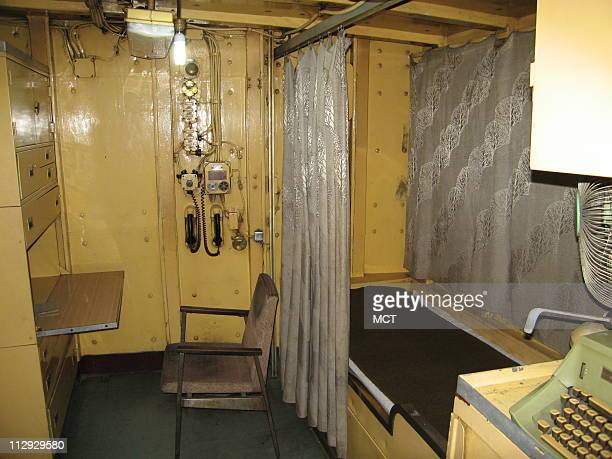 The cramped commander's quarters aboard the USS Pueblo a US spy ship held by North Korea in its capital Pyongyang August 31 2007