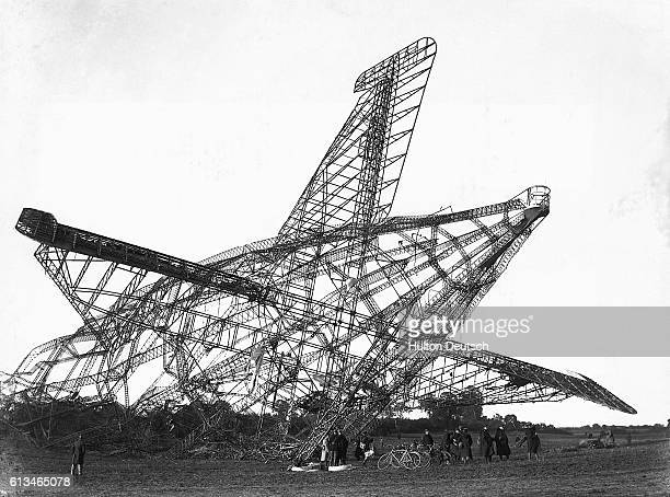 The crash of England's R101 airship in Beauvais France in 1930   Location Near Beauvais France