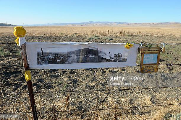 The crash site where actor James Dean died 56 years ago on September 30 2011 in Cholame California