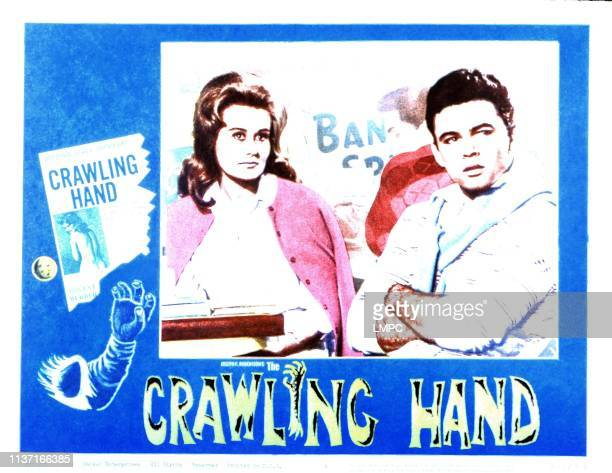 The Crawling Hand US lobbycard from left Sirry Steffen Rod Lauren 1963