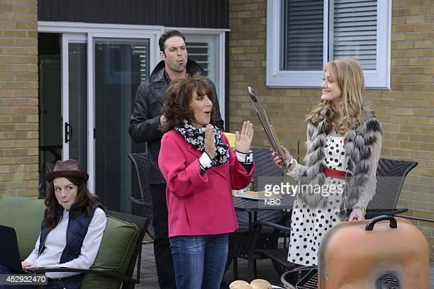 ENGELS The Crazy Family Episode 104 Pictured Kacey Rohl as Jenna Engel Andrea Martin as Ceil Engel Azura Skye as Sandy EngelKarinsky