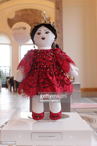 The creation 'Agata' designed by DolceGabbana at Petit Palais on November 29 2013 in Paris The world's top fashion houses in the 11th edition of the...