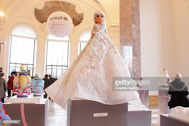 The creation 'Mila' designed by Elie Saab at Petit Palais on November 29 2013 in Paris The world's top fashion houses in the 11th edition of the...