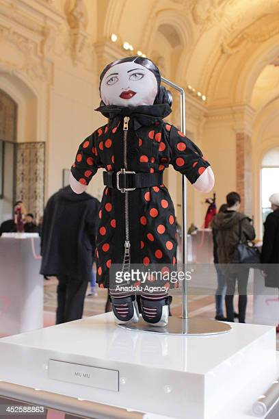 The creation 'Rhianna' designed by Miu Miu at Petit Palais on November 29 2013 in Paris The world's top fashion houses in the 11th edition of the...