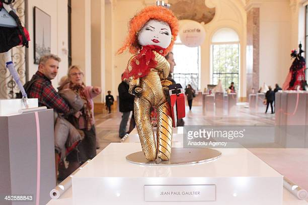 The creation 'Yvette' designed by JeanPaul Gaultier at Petit Palais on November 29 2013 in Paris The world's top fashion houses in the 11th edition...