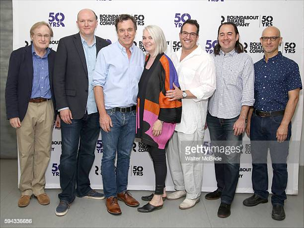 The creative team Stephen Gabis Mike Bartlett Derek McLane Susan Hilferty Michael Mayer Kai Harada and David Lander attend the Meet Greet for the...