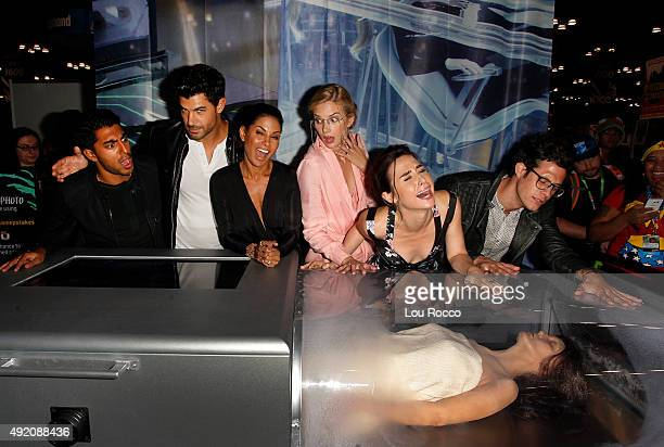 STITCHERS The creators and cast of Walt Disney Television via Getty Images Family's Stitchers appear at ComicCon New York to discuss Season 2 and...