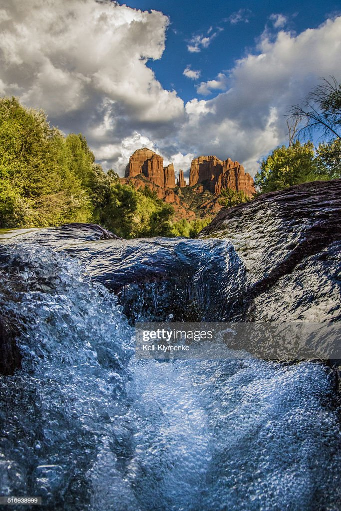 The Creek at Cathedral Rock : Stock Photo