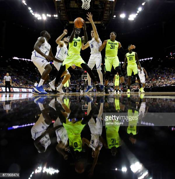 The Creighton Bluejays compete against the Baylor Bears during the National Collegiate Basketball Hall Of Fame Classic Championship game at Sprint...